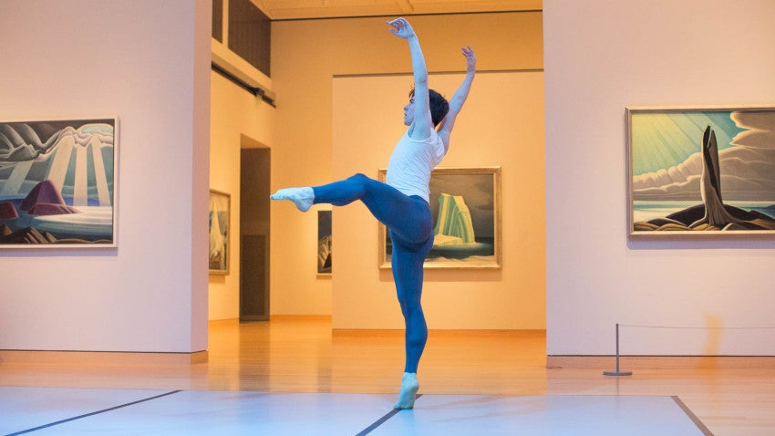 """Dancer Spencer Hack performs """"Lake Maligne"""" at the MFA."""