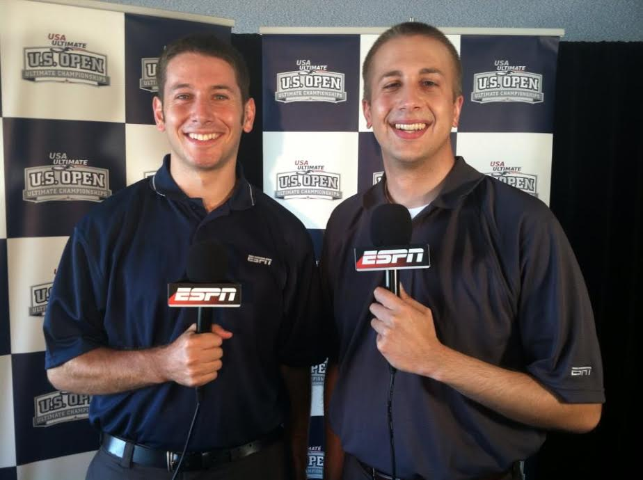 Evan Lepler and Mike Couzens pair up to cover ultimate frisbee college nationals.