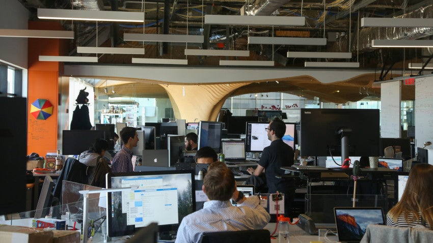 Rapid7 has offices in Boston and Cambridge. Pictured is the Cambridge office at One Main St.