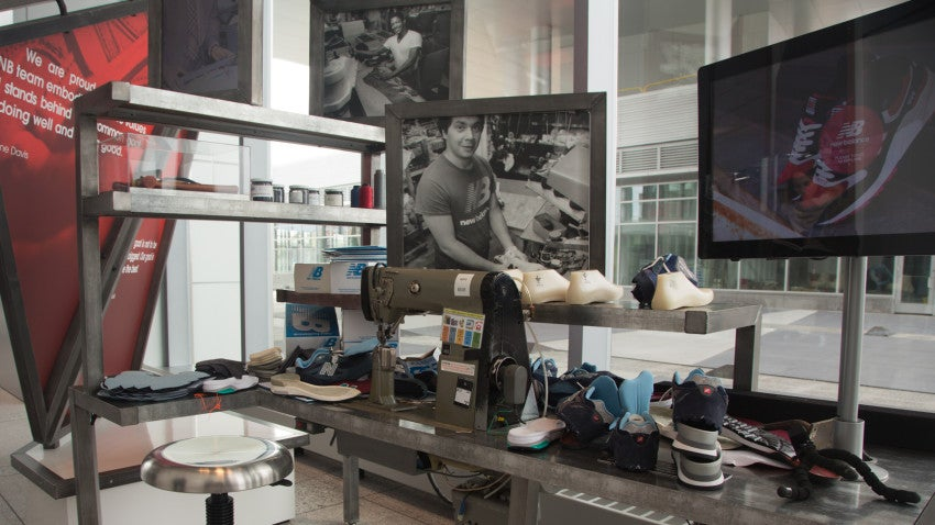 Eventually, Howe said the New Balance headquarters will have an in-house shoe maker who will show visitors how the sneakers are made first-hand.