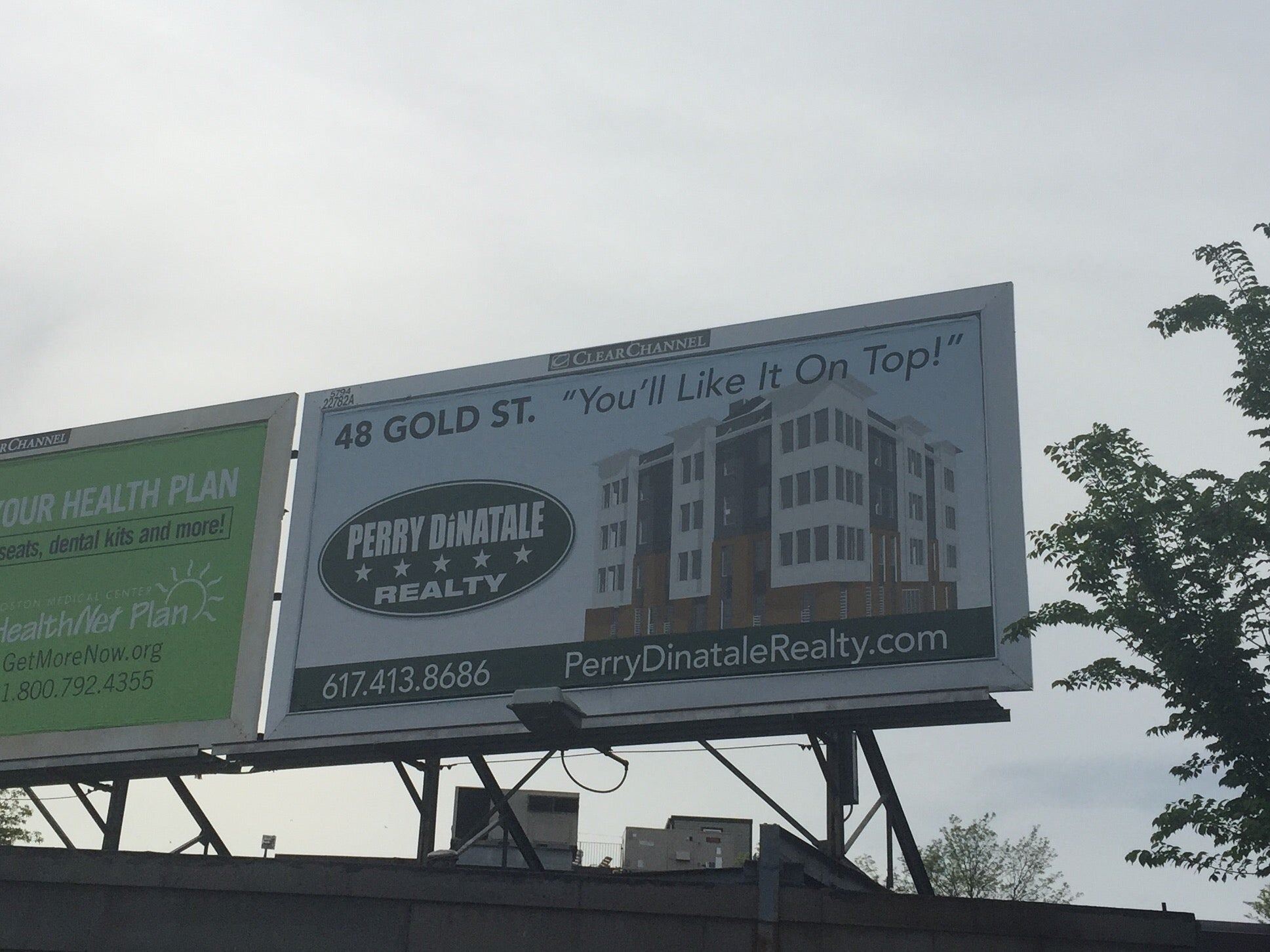 """This billboard replaced the notorious """"short and fat"""" ad."""
