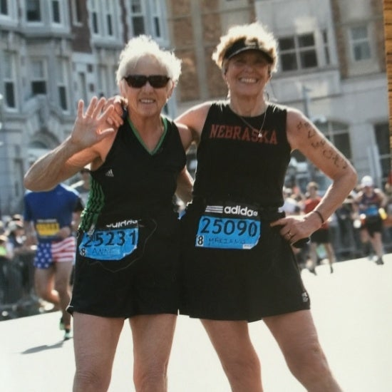 The 72-year-old best friends are tackling the Boston Marathon together.