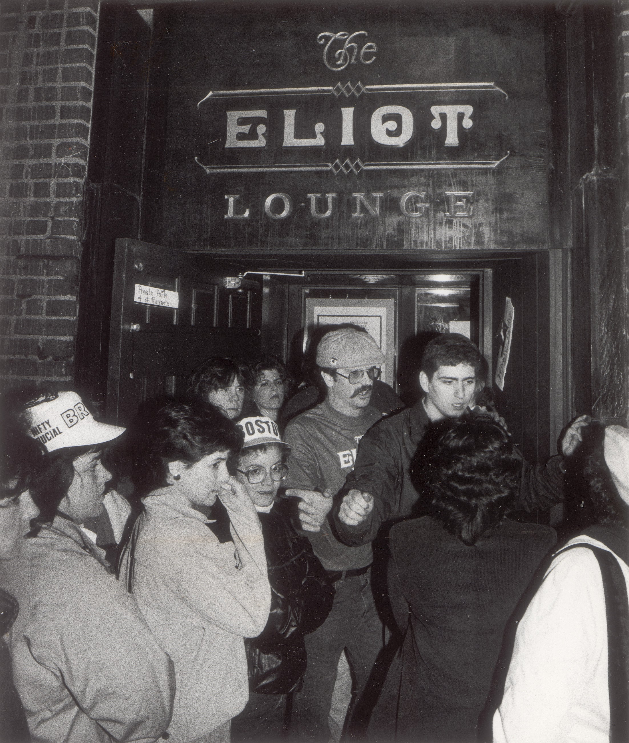 Outside of the Eliot in 1983.