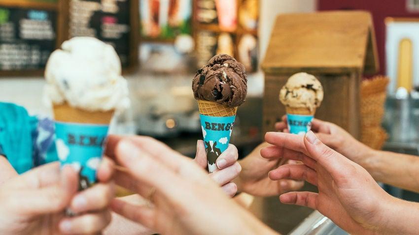 Ben & Jerry's ice cream.