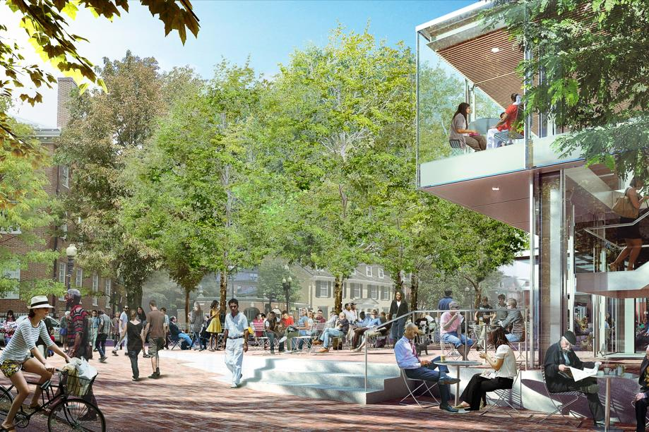A rendering of Forbes Plaza after renovations are completed in 2018.