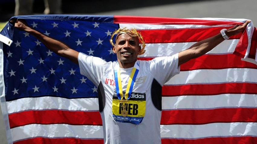 Meb's 2014 win was the first time an American took the top spot at the race since 1983.