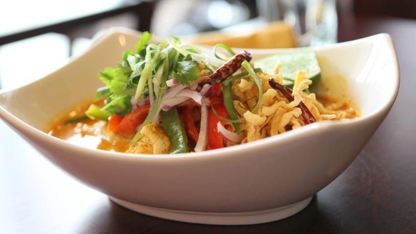 CAMBRIDGE, MA -- January 22, 2015-- For Cheap Eats. Mix-It restaurant in Cambridge -- Khao Soi. (globe staff photo :Joanne Rathe section: food cheap eats reporter: topic: 28cheapeats )