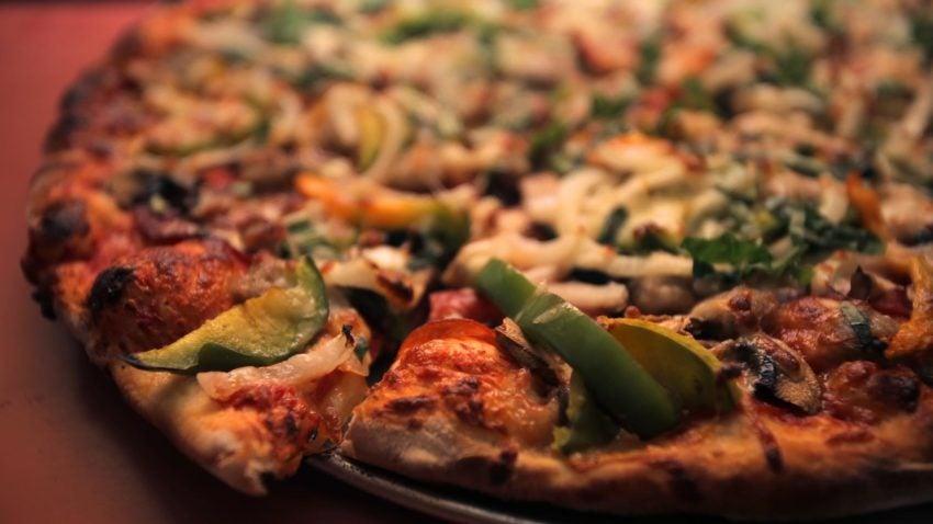 The 3-pound Giambotta with everything at Regina Pizzeria.