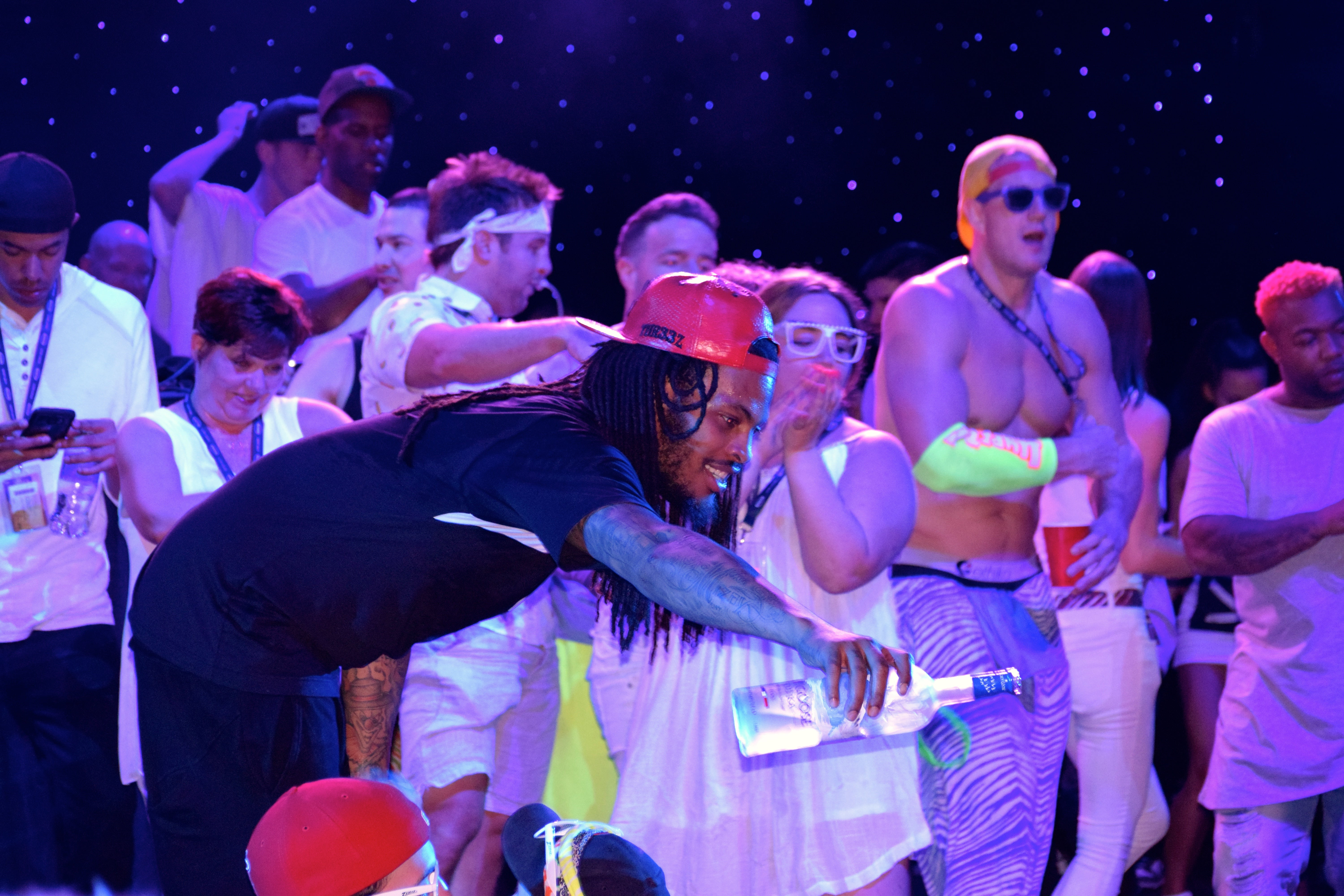 """BAHAMAS - FEBRUARY 21: Waka Flocka Flame show on board New England Patriots tight end Rob Gronkowski's """"Gronk's Party Ship"""" on the Norwegian Pearl in the Bahamas on Feb. 21, 2016. (Christopher Muther/Globe Staff)"""