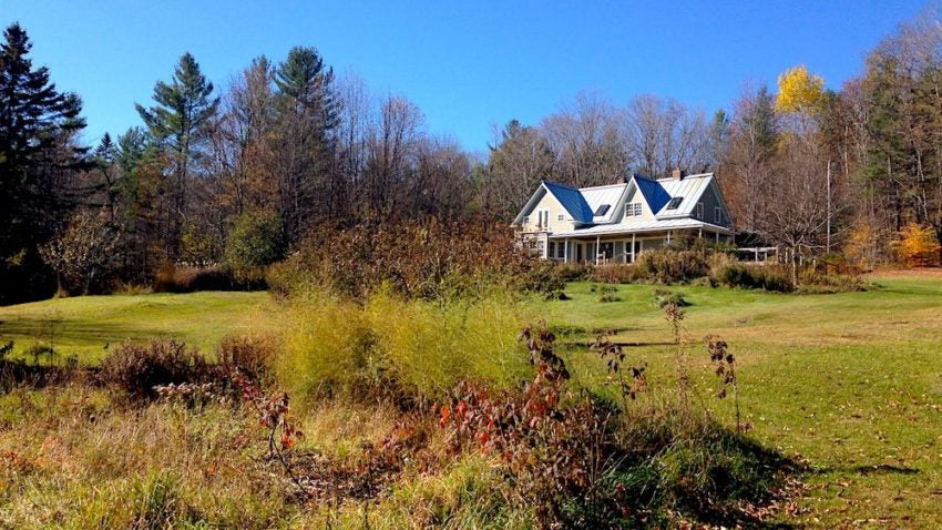 The Frugalwoods' new Vermont homestead.