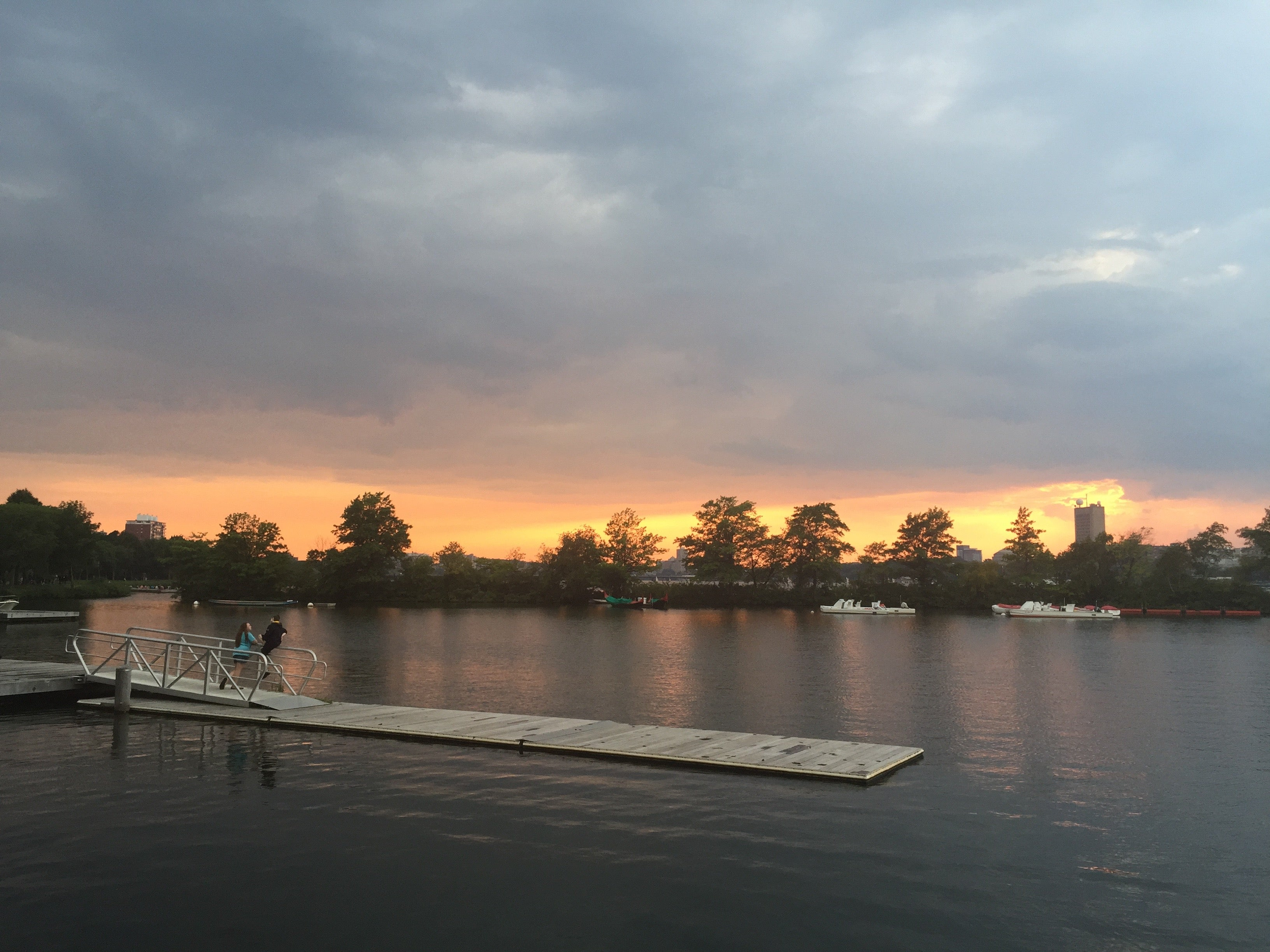 Just your typical sunset over the Charles.
