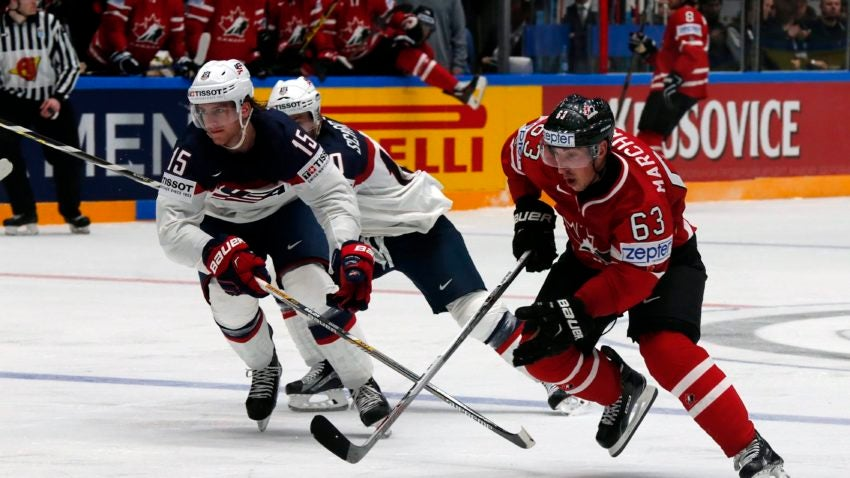 Brad Marchand's goal caps Canada's 5-1 rout of U S  in IIHF