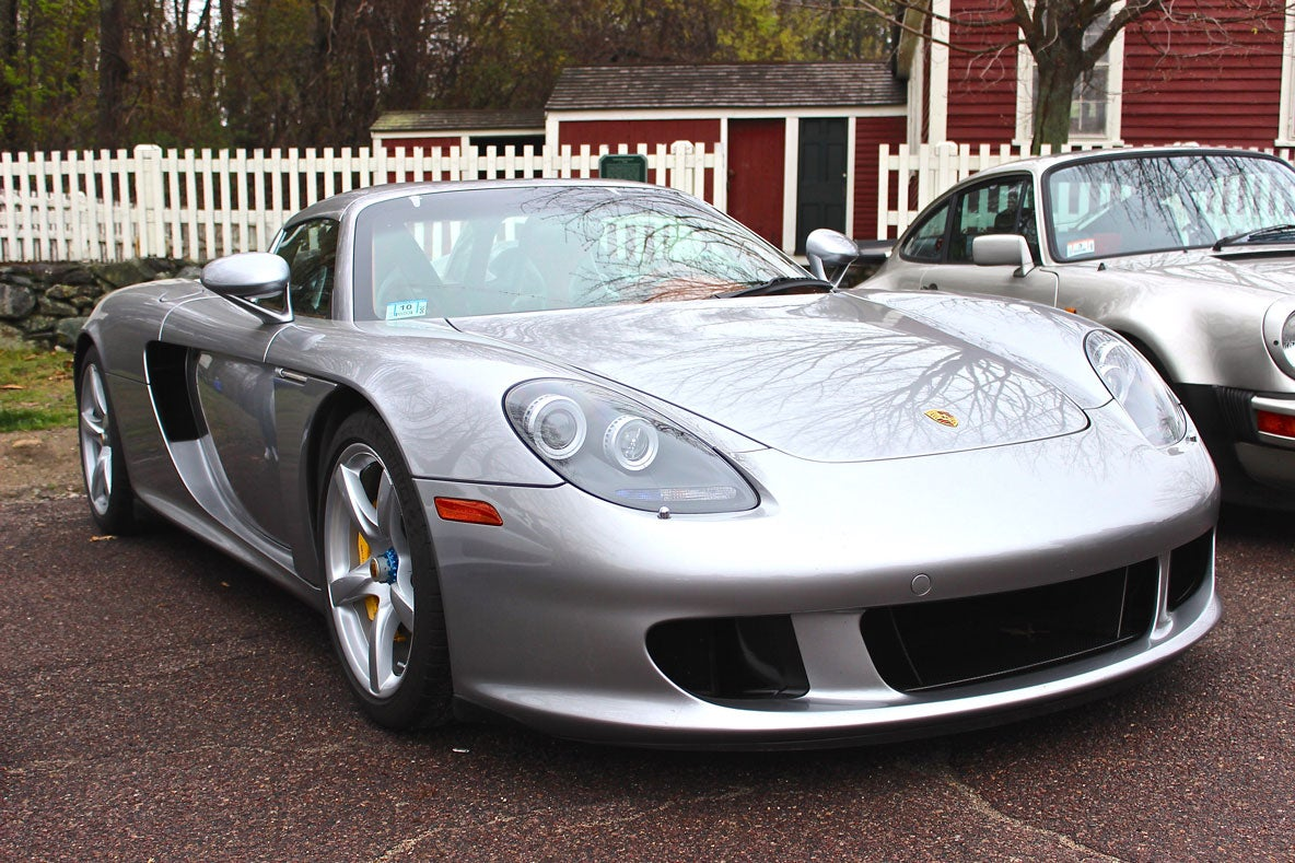 The Carrera GT is extremely rare among Porsches. It has a 5.7L V10 engine.