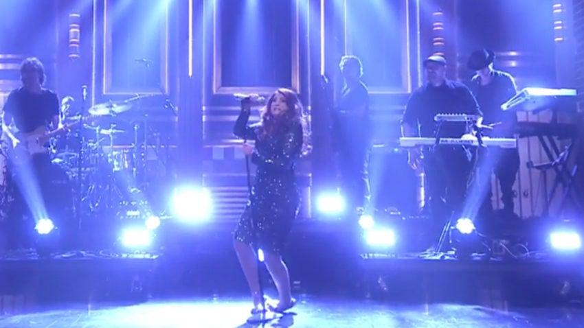 Watch Meghan Trainor take a hard tumble on 'The Tonight Show'