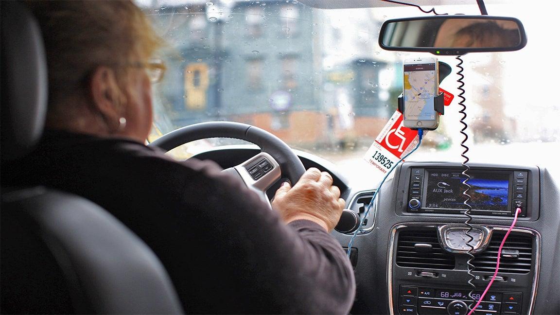 Stephanie Franz, an Uber driver in Portsmouth, N.H.