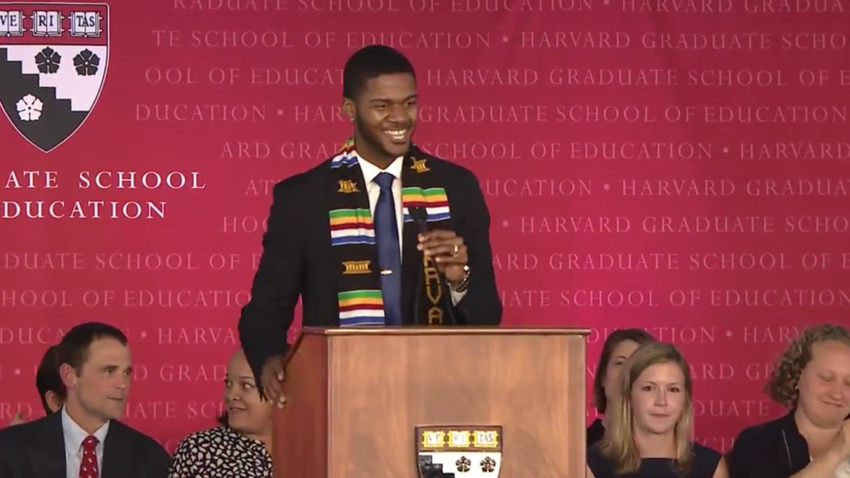 This Harvard graduate's inspirational commencement speech is