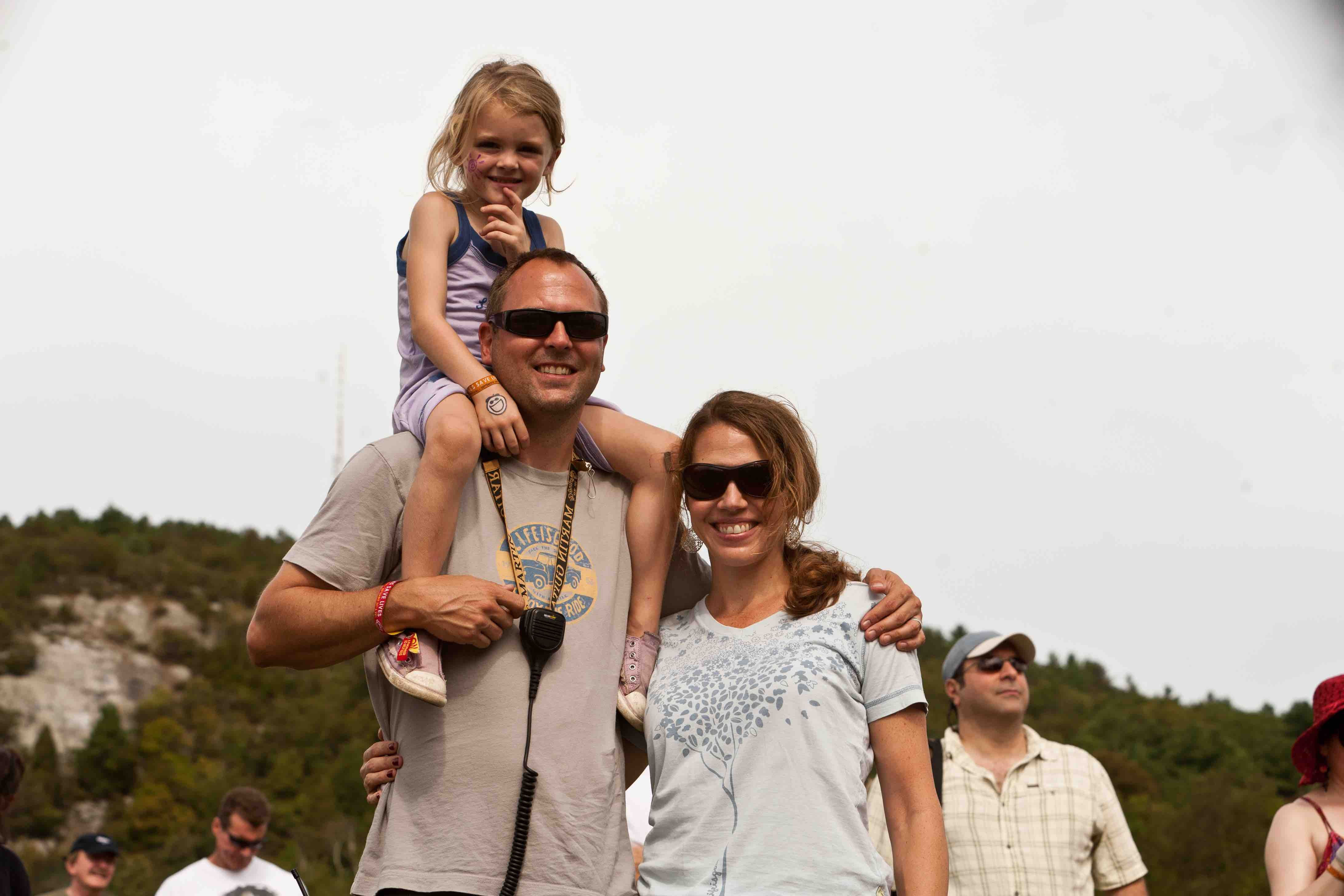 James Macdonald and family at Prowse Farm.