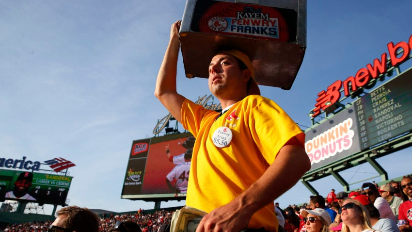 hot dog economics  how and why fenway park vendors pick where to sell food