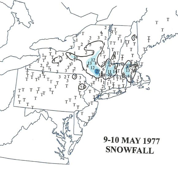 May 9-10 1977 snow totals