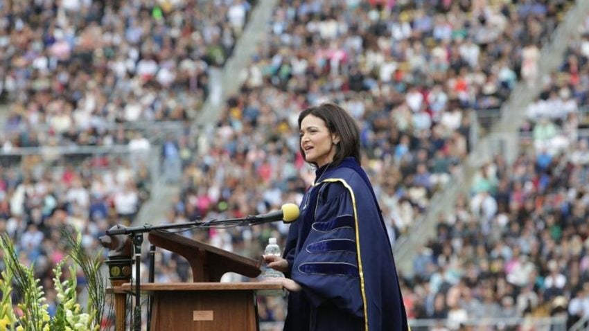 Sheryl Sandberg gave a moving commencement speech about death and resilience