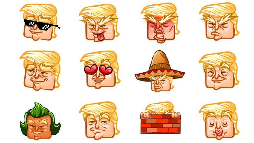 You can now send Donald Trump emojis thanks to the Ship Snow Yo man