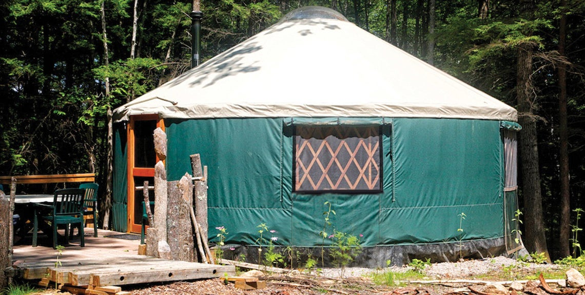 One of three yurts available.