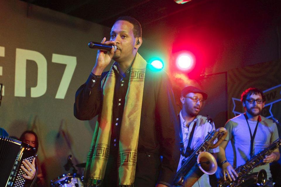 Bruck Tesfaye of Debo Band.