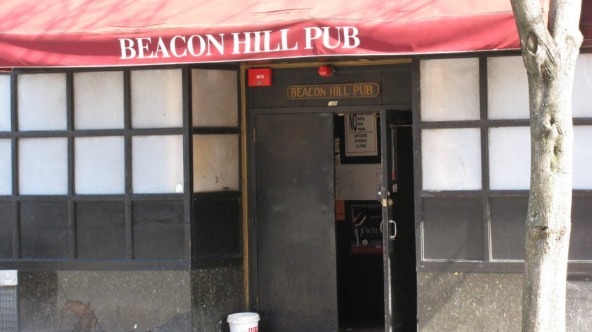 The Beacon Hill Pub, one of the most popular Boston dive bars.