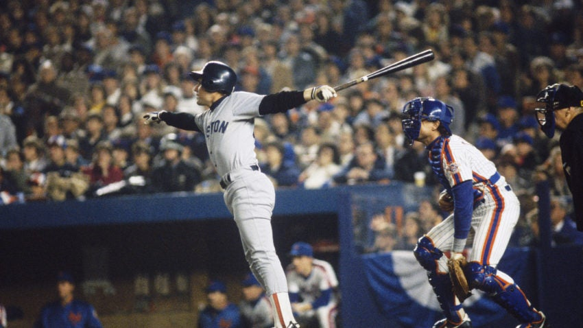 Marty Barrett was Boston's leading hitter with a .433 average during the 1986 World Series.