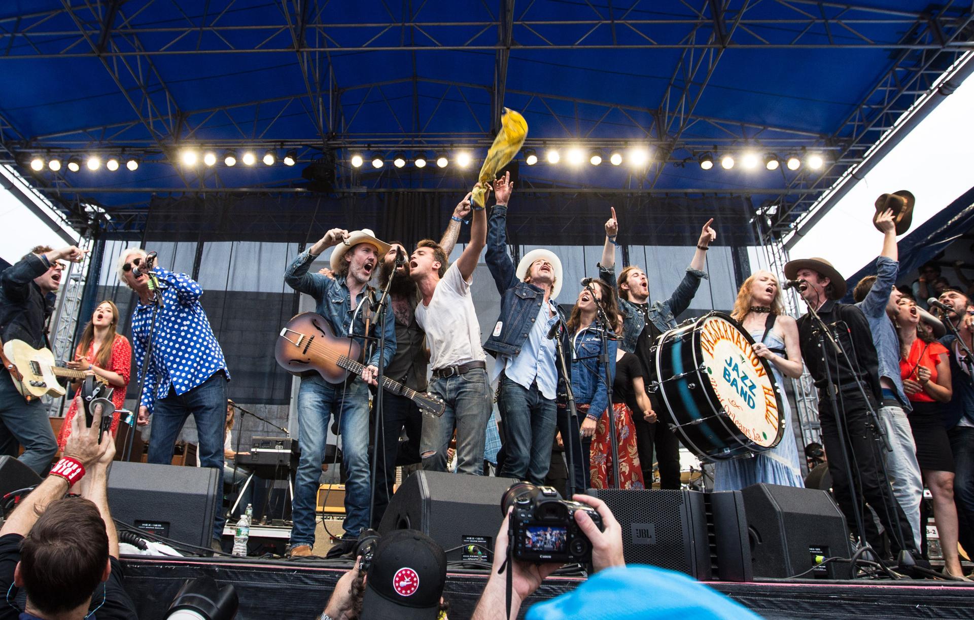 A superjam at the 2015 Newport Folk Festival.