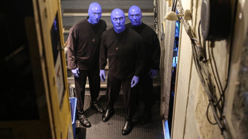 Blue man group behind the scenes