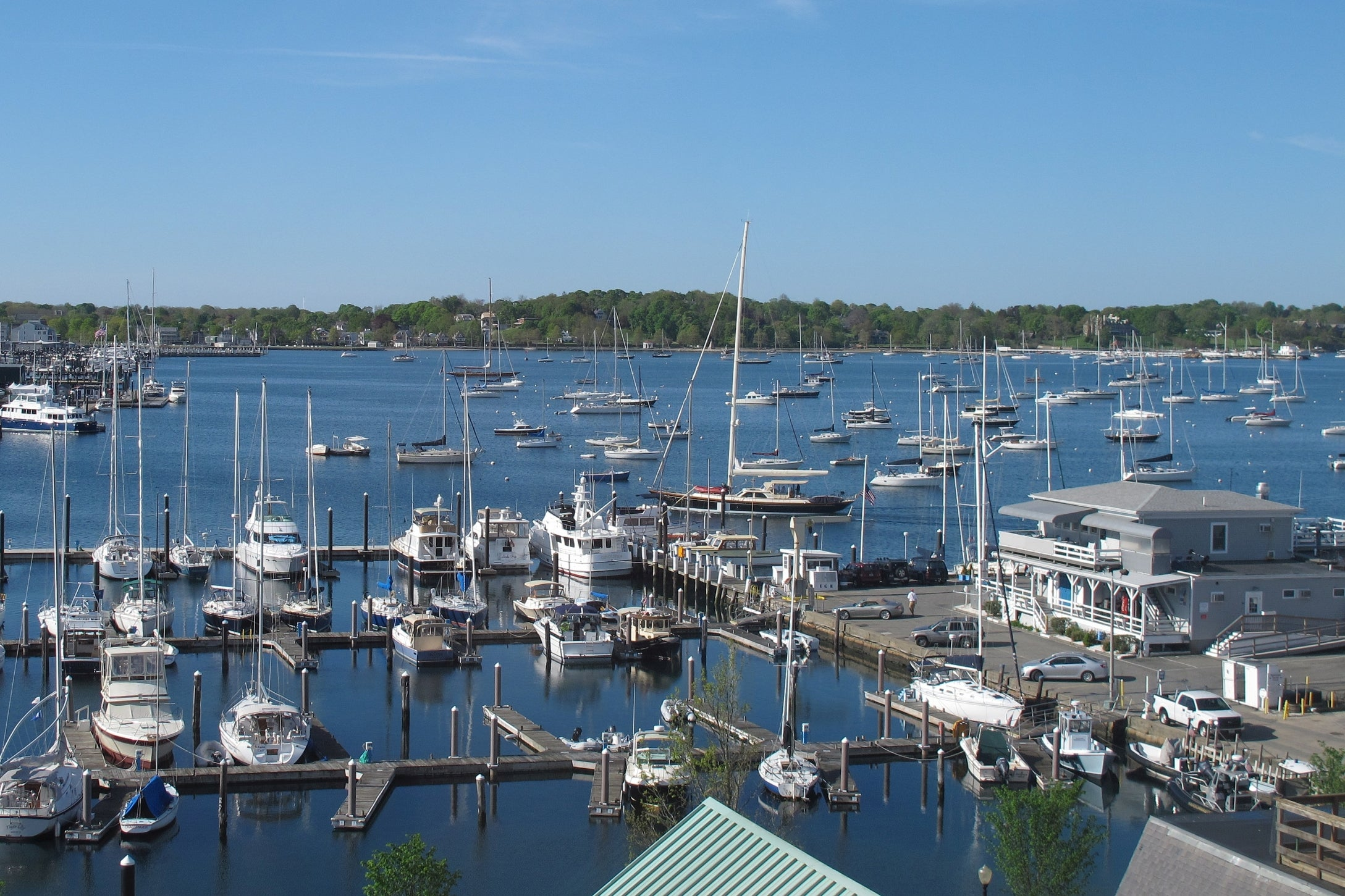 You can book a sailboat tour of Newport Harbor.