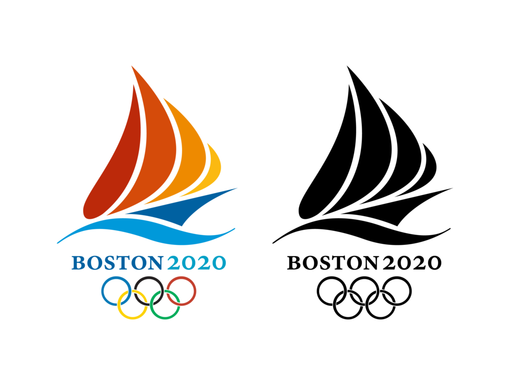 A sketch from Corey Dinopoulos's college project about a theoretical Boston 2020 Olympics.