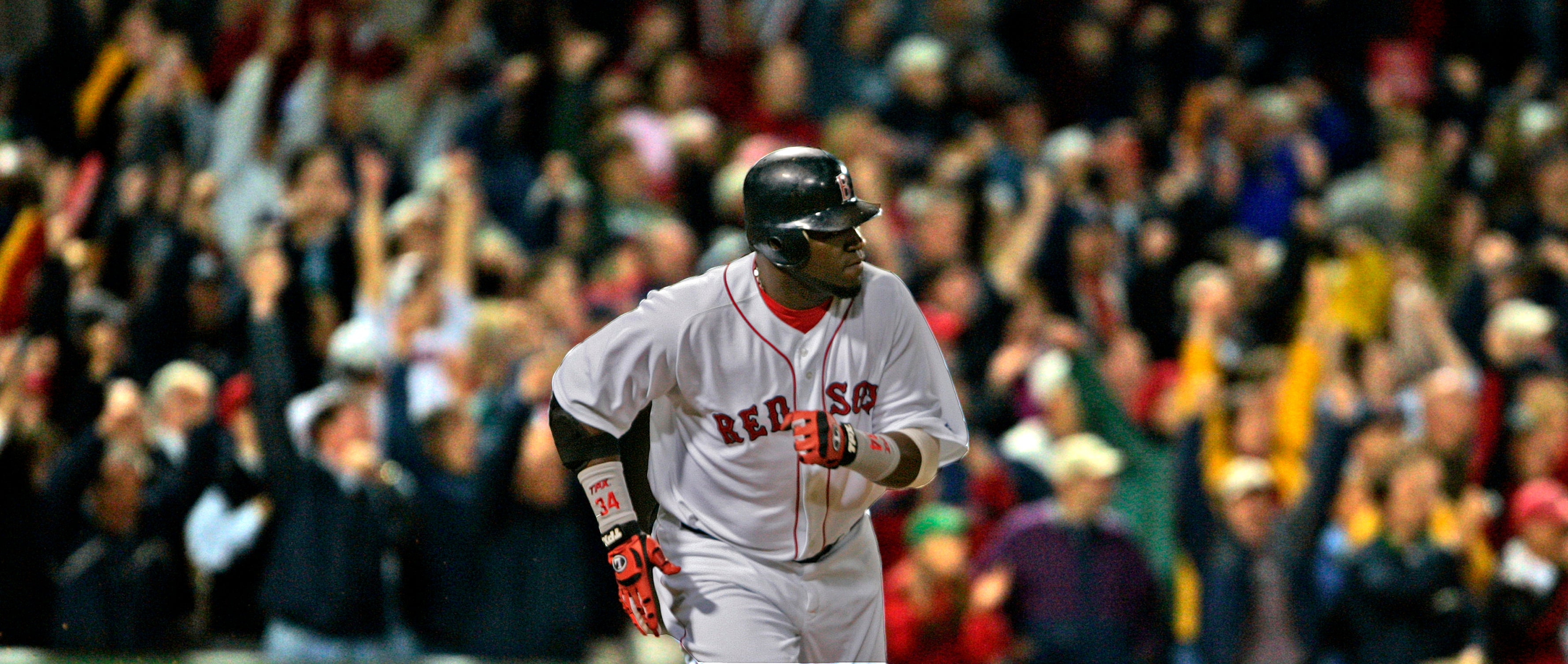 David Ortiz watches one go during a game in 2005.