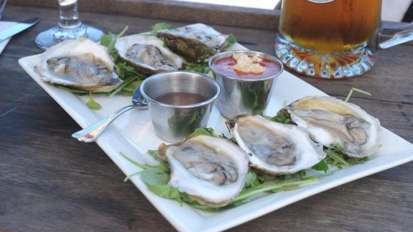 Oysters from Martha's Vineyard Chowder Company.