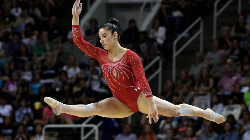Watch Aly Raisman Tear Up The Floor Exercise At The U S