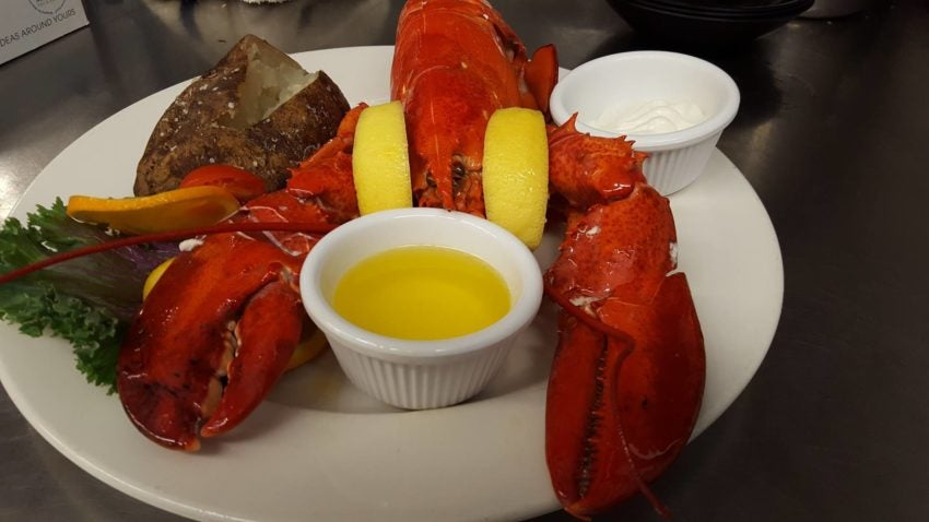 Lobster at the Seafood Shanty.