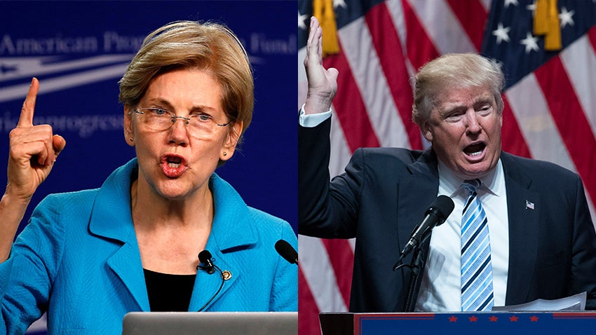 Elizabeth Warren and Donald Trump resume Twitter brawl after she blasts VP  pick Mike Pence