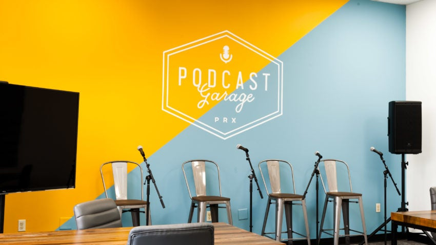 The Podcast Garage hopes to attract local students who are interested in learning how to produce a podcast.