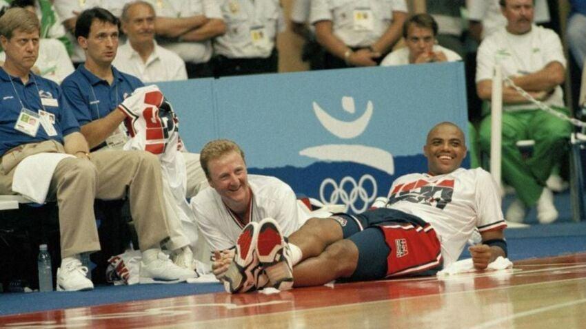 d02a8c1ac824 Larry Bird s final career basket was the Dream Team at its best ...