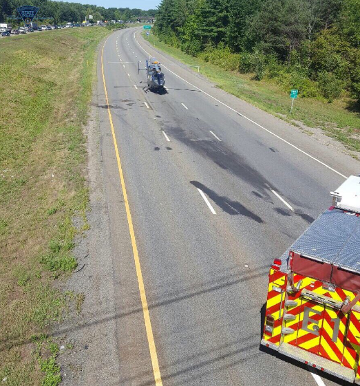 Motorcyclist seriously injured in crash on I-495 north in Littleton