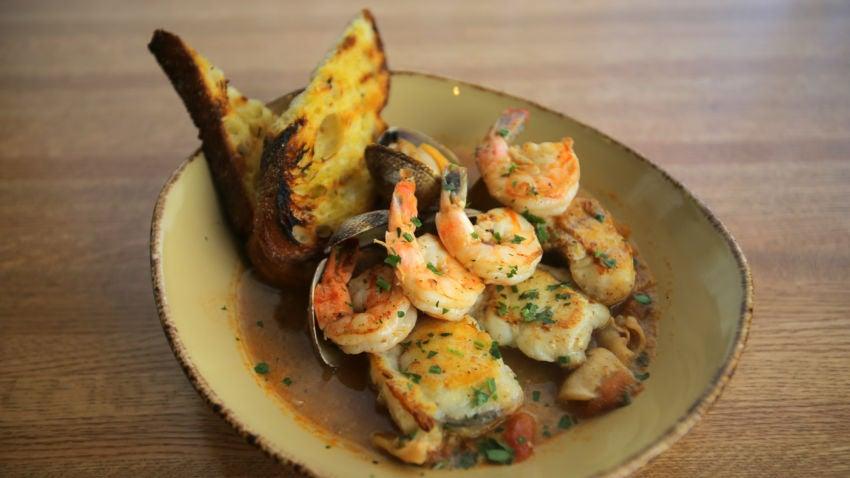 Charlestown, MA - 07/09/14 - Ligurian fish stew at Legal Oysteria in Charlestown. Lane Turner/Globe Staff Section: BIZ Reporter: taryn luna Slug: 12oysteria