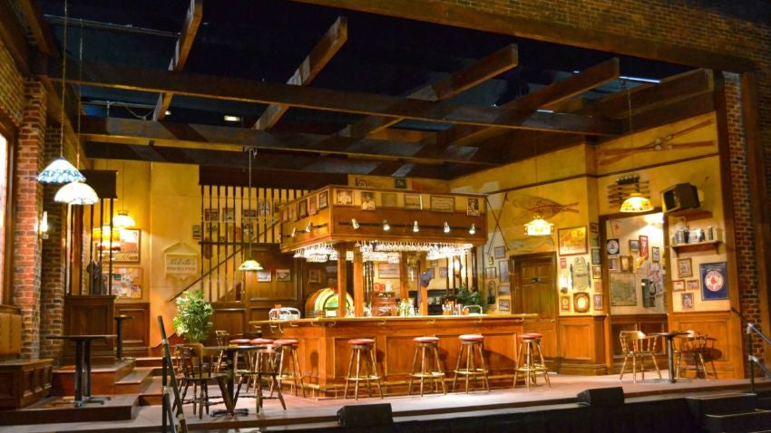 The set of 'Cheers Live on Stage.'