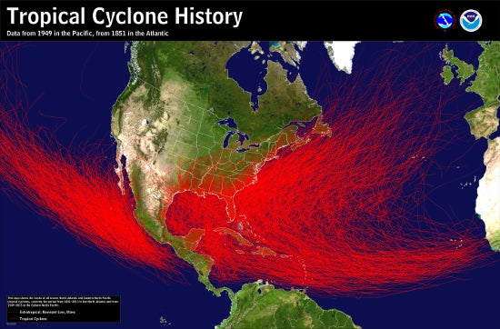Tropical systems originate in the warm waters of the tropics and often move north before being caught in the jet stream