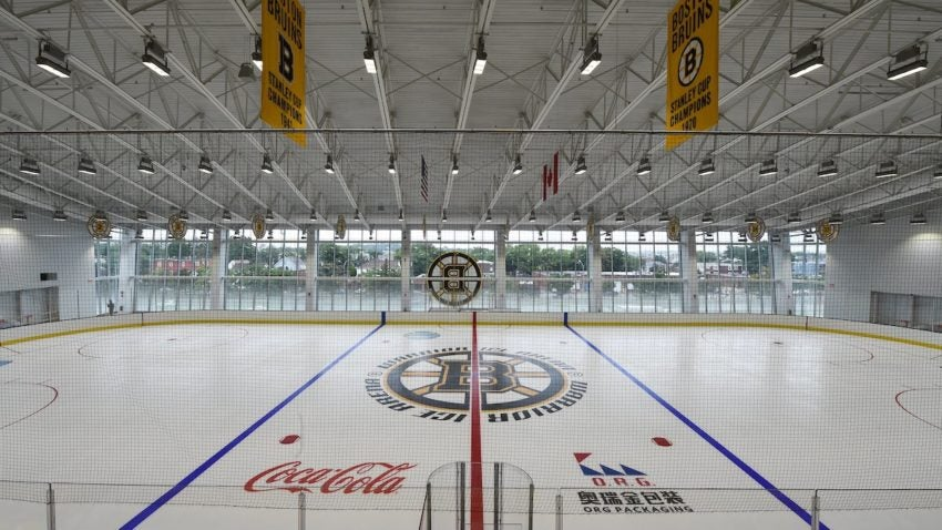 Bruins' new practice arena to open at Boston Landing | Boston com