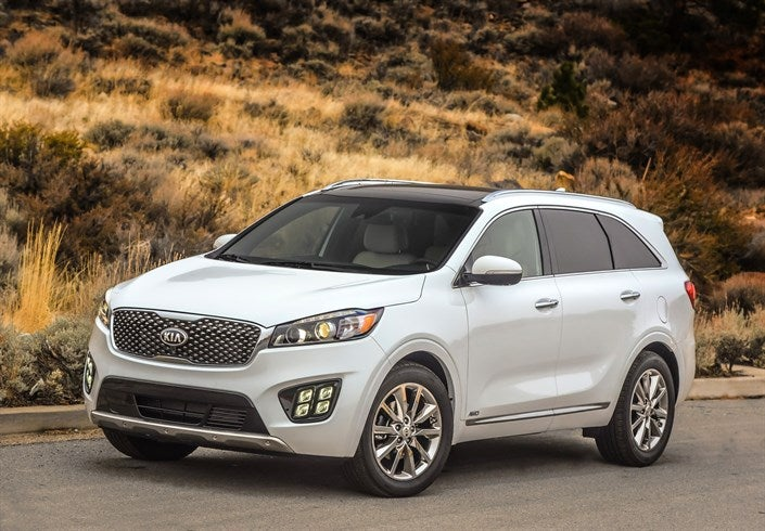 The 2017 Kia Sorento is available with an automatic emergency braking system that was rated Superior by IIHS. With the system equipped, the Sorento is a Top Safety Pick+ winner.