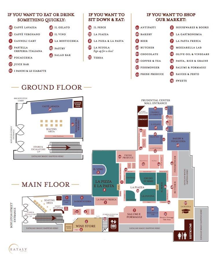 Map EAtaly Boston