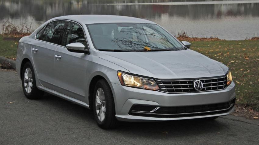 review 2016 vw passat 1 8t s has style without the extras. Black Bedroom Furniture Sets. Home Design Ideas