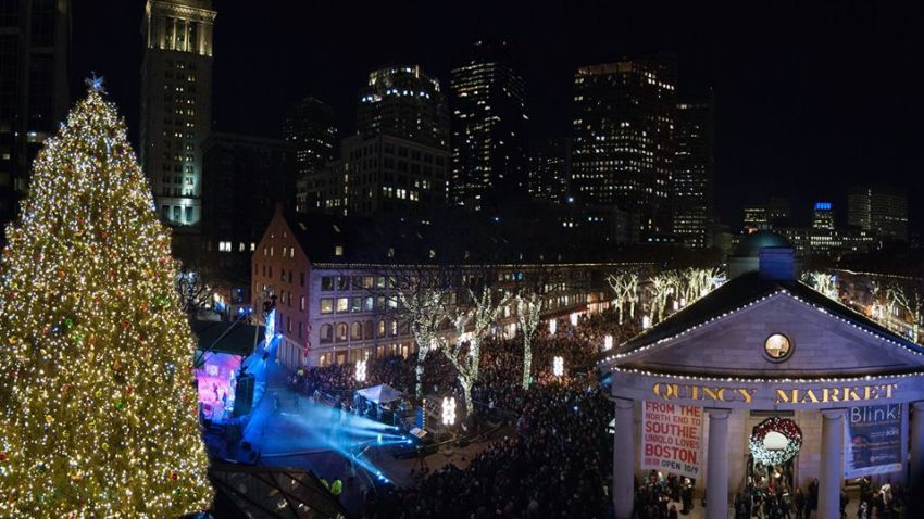 Lights at Faneuil Hall.