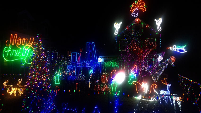 The lights display at 392 Adams St. in Dorchester.